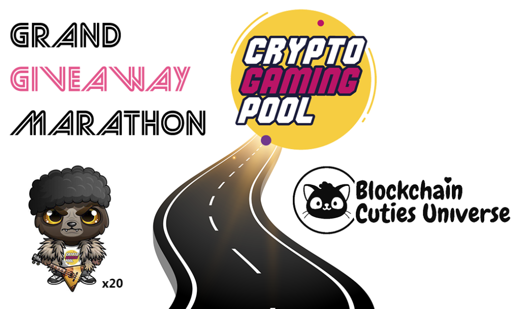 Grand giveaway marathon, CryptoGamingPool,Blockchain Cuties