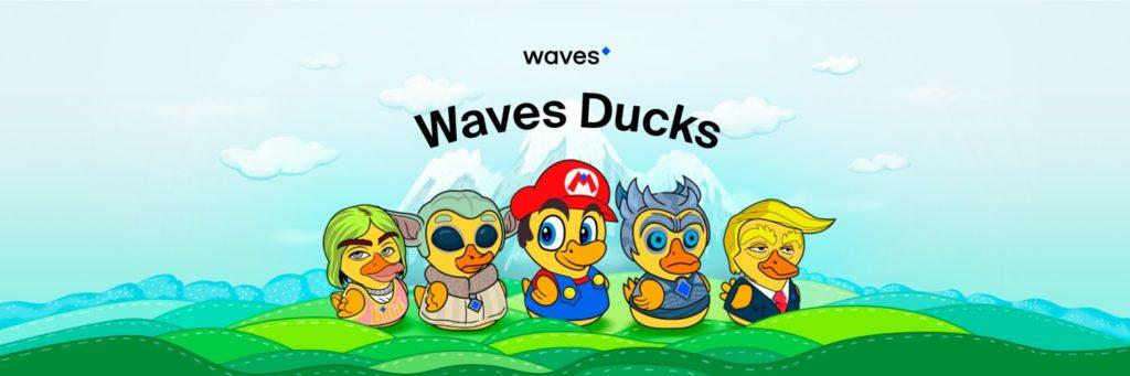 waves ducks